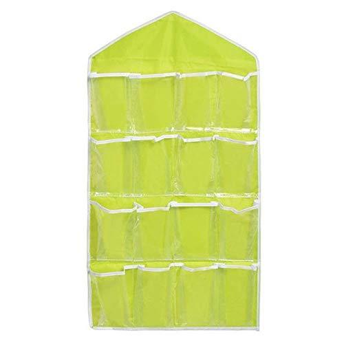 GBX 10/16 poche multifonctionnel Sous-vêtements Classification Sac de Rangement Porte Placard Mural16PockertsGreen