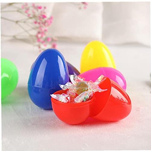 OMMO LEBEINDR Pascua de plástico Huevos de Pascua Regalos de Sorpresa Rellenos Surtido de Chocolate DIY Juguetes para niños Party Party Party Favor 12pcs