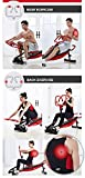 Rowing Machines Trainingsgeräte Rudergerät Trac Glider 12 Widerstandseinstellung mit LCD-Display 330 LB Gewicht Kapazität Faltbare for Home Gym - 3