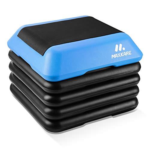 MaxKare StepPlatform ExerciseAerobicStepper with 4 Adjustable Risers for Home Use