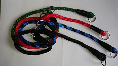 Rope Slip Collar, Rope Choker, Gun Dog Training (16', Red)