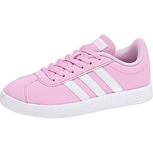 Adidas Vl Court 2.0 K, Zapatillas de deporte Unisex niños, Rosa (Rosa 000), 36 2/3 EU