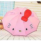 傘 子供傘子供女の子かわいい耳アニメ傘赤ちゃん学生白い傘長い日傘
