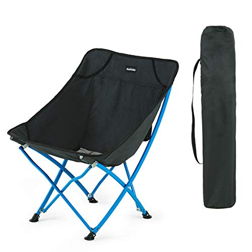 Folding chair outdoor folding chair portable beach camping sketching chair (BLACK)