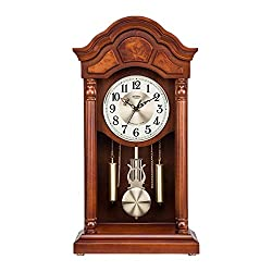 Pendulum Wall Clock with Westminster Chime, That Chimes Every Hour, Living Room Silent Traditional Clock, Battery Operated, Grandfather Mechanical Wood Bedroom Decoration Clock