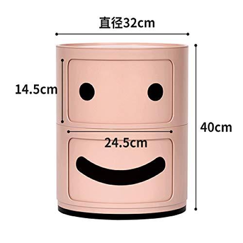 Nachtkastje LKU Ultralicht ABS-hars nachtkastje koffie nachtkastje kinderen schattige mini-opslagtank, roze