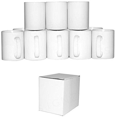 Signzworld 11oz pequeño taza de Orca asa con revestimiento de doble–blanco (Pack de 36)