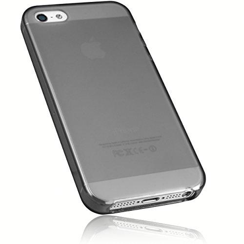 mumbi Hülle kompatibel mit iPhone SE (2016) / 5 / 5S Handy Case Handyhülle, transparent schwarz