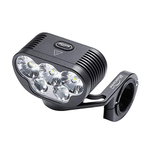 Magicshine Monteer 6500 Mountain Bike Headlight, 6500 lumens of Actual max Output MTB Light with 3X CREE XHP50.2 and 2xXM-L2 Spot/Food/Combo Beams, 10,000mAh Super high Capacity Battery Pack