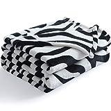 NANPIPER Couch Blankets Flannel Blanket Ultra-Soft Plush Warm Fleece Microfiber Zebra Print Twin Size 50'x 65'