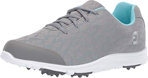 FootJoy Women's Enjoy Golf Shoes, Grey, 8.5 M US