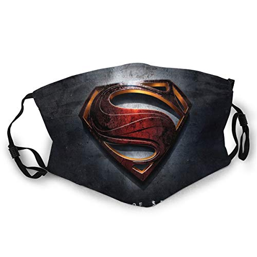 Superman Man of Steel ??Mouth Guard, wiederverwendbar, waschbar(Schwarz (1st¨¹ck)) Unisex Anti-Dust Washable Reusable Mouth Guard for Kids Teens Adults