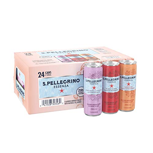 24-Pack 12-Oz Zevia Zero Calorie Soda (Cream Soda) $11.35 w/ S&S or 24-Pack 11.15-Oz S.Pellegrino Essenza Mineral Water Variety Pack $10.43 w/ S&S