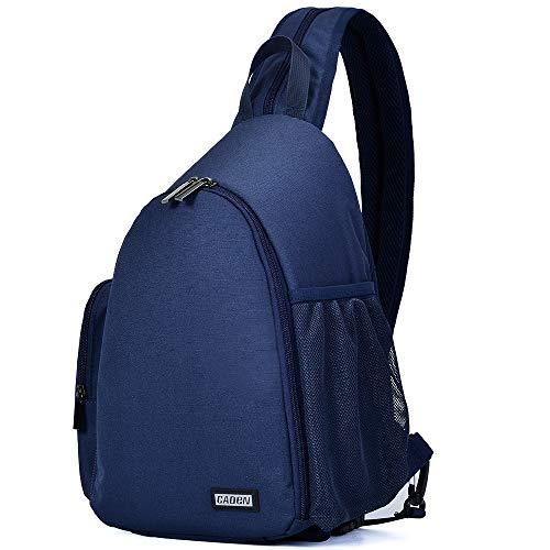 CADeN Camera Bag Sling Backpack, Camera Case Backpack with Tripod Holder for DSLR/SLR Mirrorless Cameras (Canon Nikon Sony Pentax) Blue
