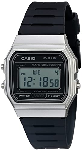 Casio Men's Classic Quartz Watch with Resin Strap, Black, 18 (Model: F-91WM-7ACF)
