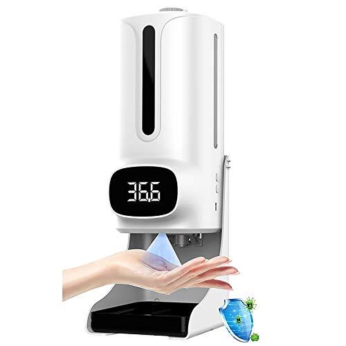 WOERD Dispensador Automático Alcohol Desinfectante Spray Jabón Automático Pared 1200ml K9 Pro Plus,dispensador Alcoholsin Jabon Baño,Sensor Infrarojo,para Baño,Oficina,Hospital