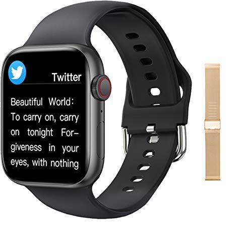 LJMG Smart Watch 2021 Nuevo T800 Smartwatch Mujer Hombres Bluetooth Llamada 1.75 'Full Touch DIY Reloj Cara Fitness Pulsera para IOS Android e