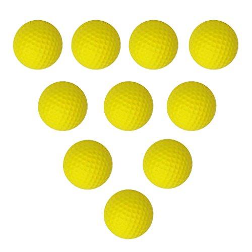 lahomia 10Pcs Bolas de Práctica de Espuma de Golf Bolas de Entrenamiento de Golf para Interiores Y Exteriores