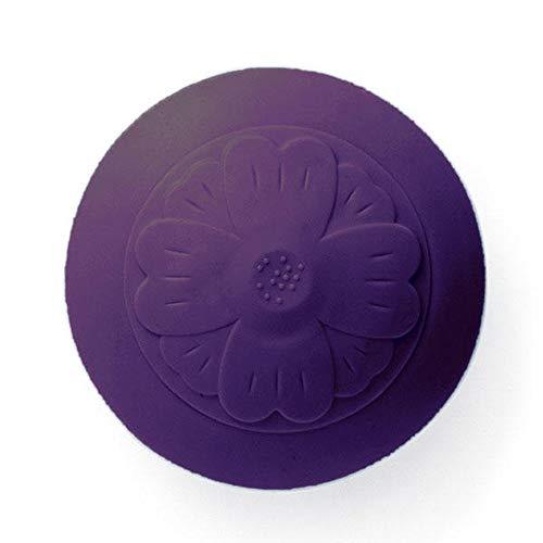 Bodenablauf 2 in 1 Deodorant Sink Badewanne Küche Fußboden-Schutz 2 PCS ablassen Silikon Stopper Haar Catcher ablassen (Color : Purple, Size : 6.2x6.2cm)