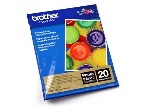 Brother PAPBRT030 Papel Fotográfico Bp71Gltr - Papeles Fotográficos, Color Blanco, pack of/paquete...