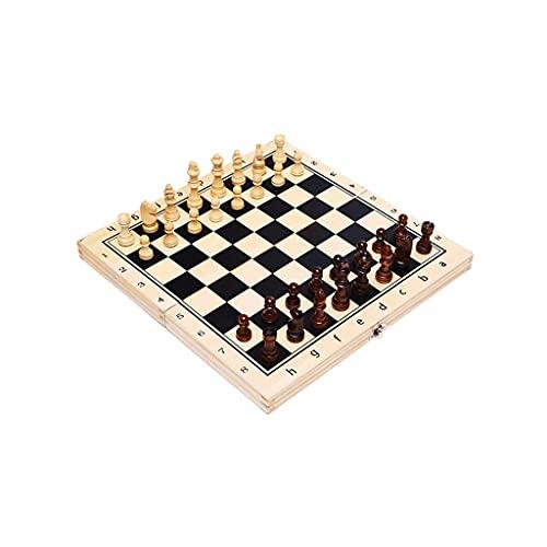 NZKW Tablero de ajedrez Plegable de Madera Maciza magnética Juego de ajedrez Internacional de Madera Juego de Mesa portátil Juguete de Regalo para Fiesta Familiar (Tamaño: Grande)
