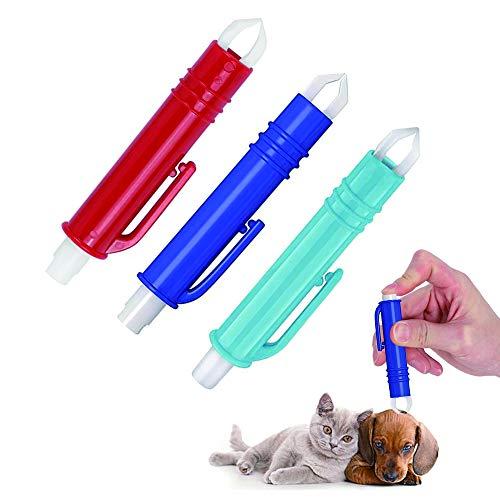 LUKIUP Zeckenzange Set,3X Kunststoff Zeckenzange,Tick Remover,Zeckenpinzette,Zeckenentferner für Hunde,Tier,Menschund Katzen