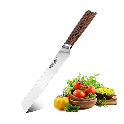 Cuchillo Panero Cuchillo de 8 pulgadas Pan con serró la lámina de acero Alemania 1.4116 cocina profesional Pan Queso herramienta de corte de la torta for cocinar (Color : 8.0 Bread knife)