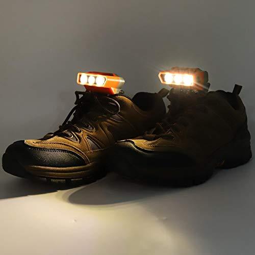 Surebuy Luz para Calzado para Correr, luz para Calzado Instalación en un Paso 2 en 1 Carga USB para Senderismo al Aire Libre Camping