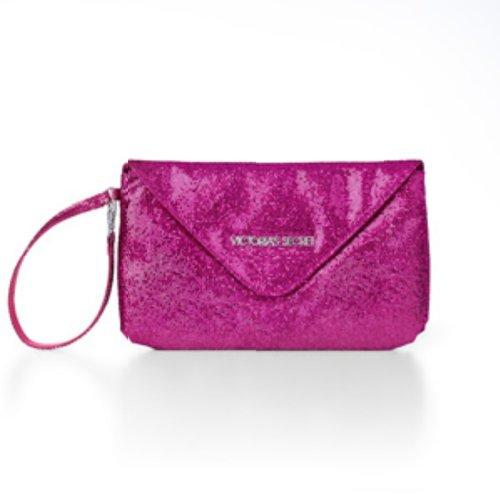Victoria's Secret Glitter Wristlet Clutch Makeup Bag Pink