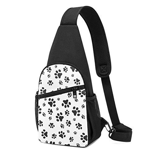 Hdadwy Dog Paws Mochila de hombro Sling Chest Bag Crossbody Bag Cover Pack Mochila
