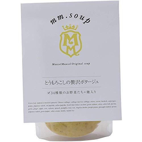 mm.soup とうもろこしの贅沢ポタージュ 180g×6P 34種類の純国産野菜と伝統発酵食材の米こうじが入った食べるスープスムージー
