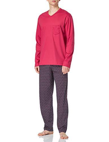 CALIDA Herren Relax Streamline 3 Pyjamaset, Berry Red, 52-54