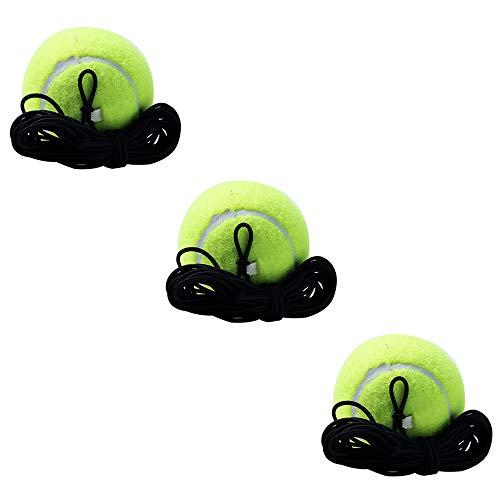 Tennis Trainer Ball con stringa 3 palline da tennis con corda elastica strumento di addestramento per singolo giocatore di tennis auto tennis strumento di allenamento per principianti adulti