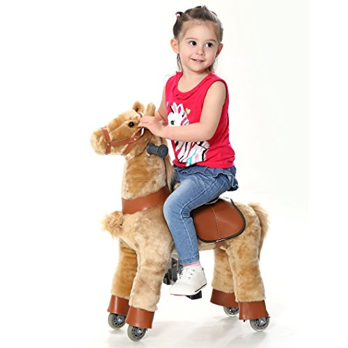 Buy Happy Island Cute Little Pony Foal Giddy Up Ride On Horse, Walking Simulated No Battery No Elect...