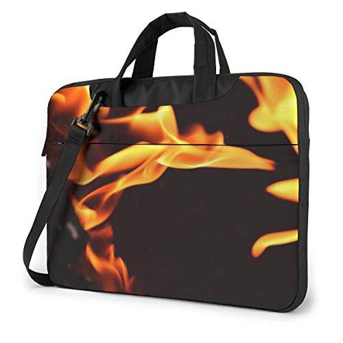 Fire Flame Computer Bag Durable Laptop Maletín Bandolera para computadora portátil de 13 Pulgadas