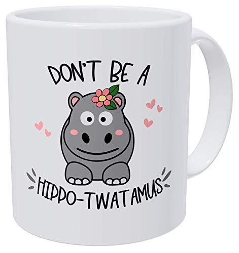Taza té cerámica uso prolongado No seas un hipopótamo...
