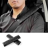 Avoalre Copri Cintura di Sicurezza Auto 4 Pezzi Protezione Sicurezza Alta Comodità Imbottitura Comfort per Auto Cintura di Sicurezza per Bambini Adulti Nero