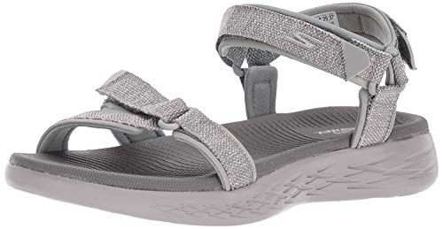 Skechers Damen Sandalen ON The GO 600 Radiant Grau, Schuhgröße:EUR 41