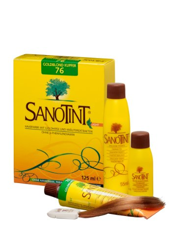 SANOTINT® Haarfarbe sensitive ?light? Nr. 76 ?Goldblond Kupfer? (125 ml)