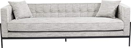 Kare Design Sofa Loft Salt & Pepper, 3-Sitzer sofa in Schwarz Weiß mit schwarzen Füßen, inkl. 2 Kissen, (B/H/T) 226x70x80cm