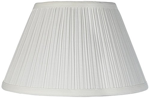 Downbridge Antique White Pleated Shade 6.5x12x7.5 (Uno) - Brentwood