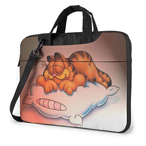 Hdadwy Cartoon Garfield Laptop Sleeve Laptop Bag Tablet Briefcase Ultraportable Protective Handbag Oxford Cloth-for MacBook Pro/MacBook Air/Notebook Computer 13inch
