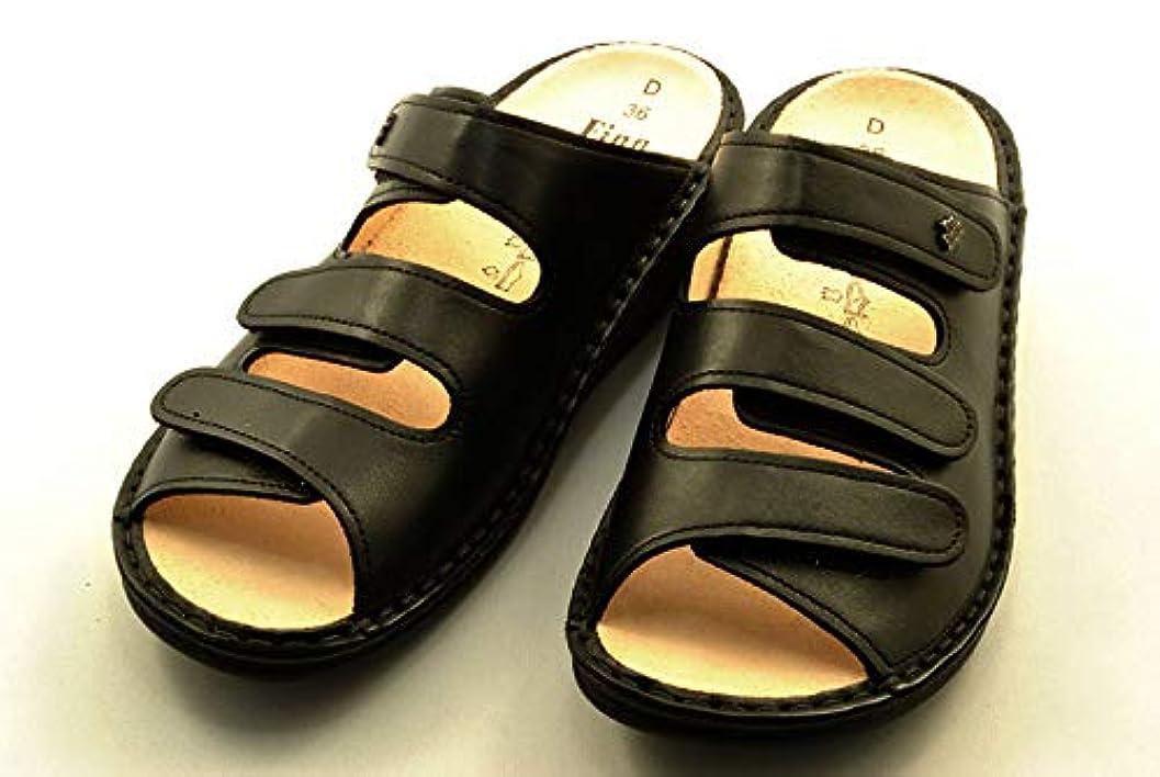 覚醒戻す故障[Finn Comfort] フィンコンフォート PISA ピサ 2501 スリッパ つっかけ 黒 36(23cm) 室内履きとしても