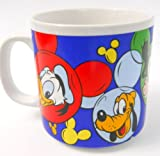 Disney Coffee Mug Donald Pluto Goofy Mickey Minnie Mouse in Colorful Ear Circles