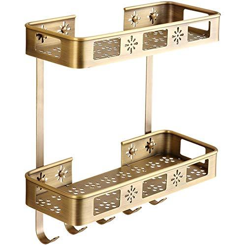 %41 OFF! Bathroom Shelf Adjustable Shower Caddy Stainless Steel Storage Rack Bathroom (Color: Gold)