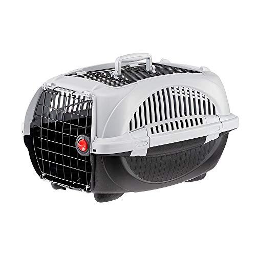 Amazon Basics - Trasportino per cani e gatti di prima qualità con doppia apertura, 58 cm