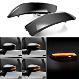 Jinfili Dynamic Sequential Led Side Wing Rearview Mirror Lights Turn Signal Blinker Lamp Compatible with Ford Fiesta B-Max 2008-2017