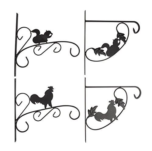 holzfuerkinder Lot de 4 crochets suspendus pour paniers suspendus - En métal - 29 x 29 cm - Pour panier suspendu.
