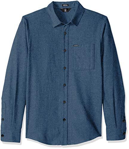 Volcom Caden Solid L/S Herrenhemd XS Blau (Blue Rinse)