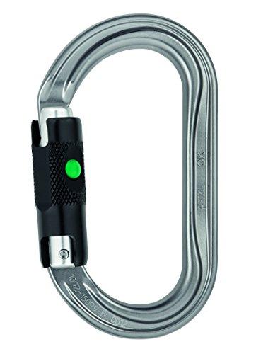 PETZL OK Karabiner Ball-Lock Silber/schwarz 2021 Kletterausrüstung